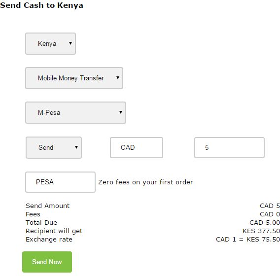 Send Money to Kenya Coupon Code